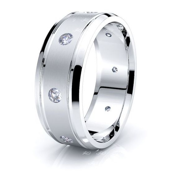 Annabel Mens Diamond Wedding Band