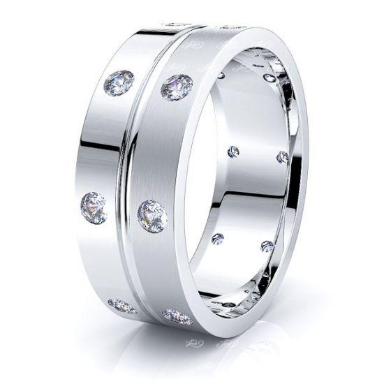 Milena Mens Diamond Wedding Ring