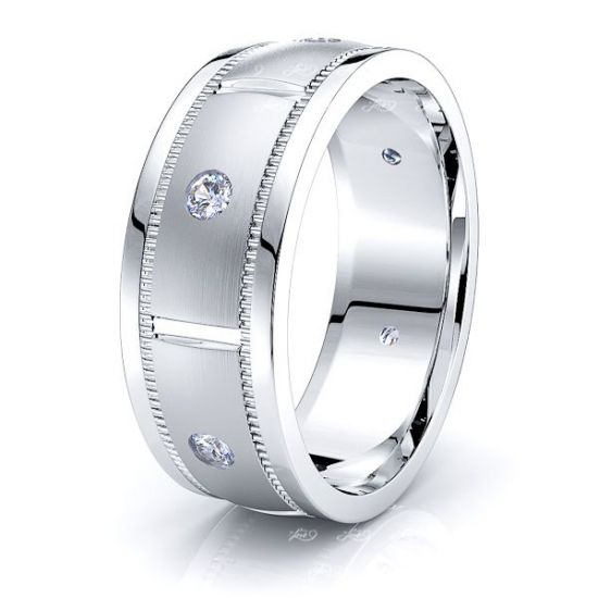 Savannah Mens Diamond Wedding Band