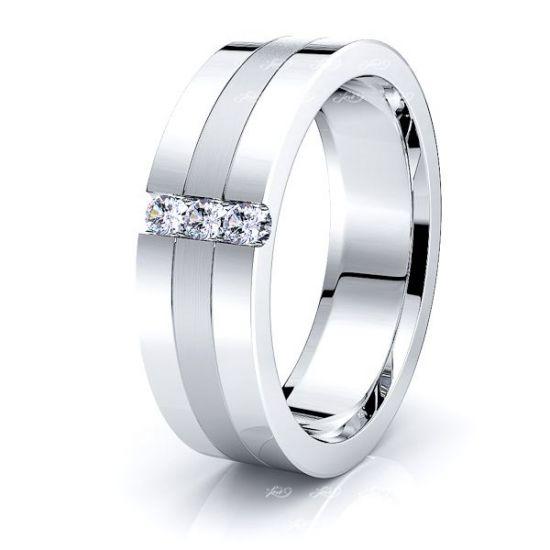 Jessica Mens Diamond Wedding Band