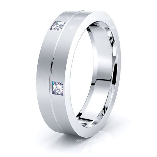 Bridget Mens Diamond Wedding Band