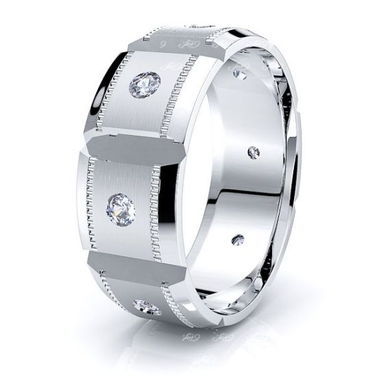 Elle Mens Diamond Wedding Band