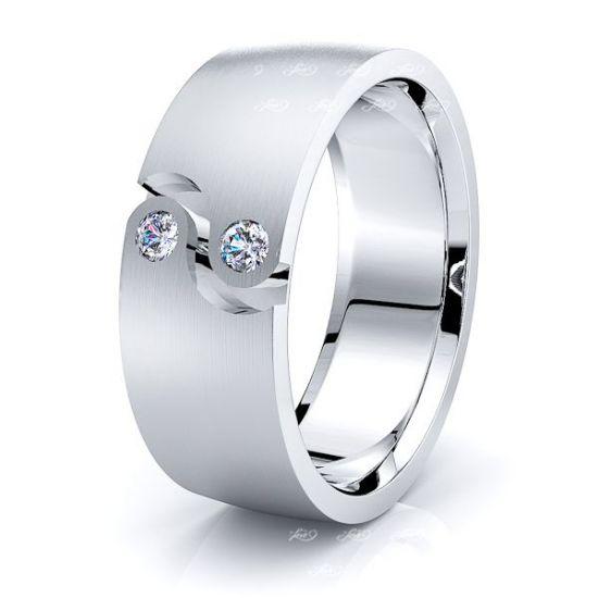 Nell Mens Diamond Wedding Band