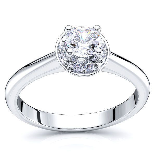 Dallas Halo Solitaire Engagement Ring