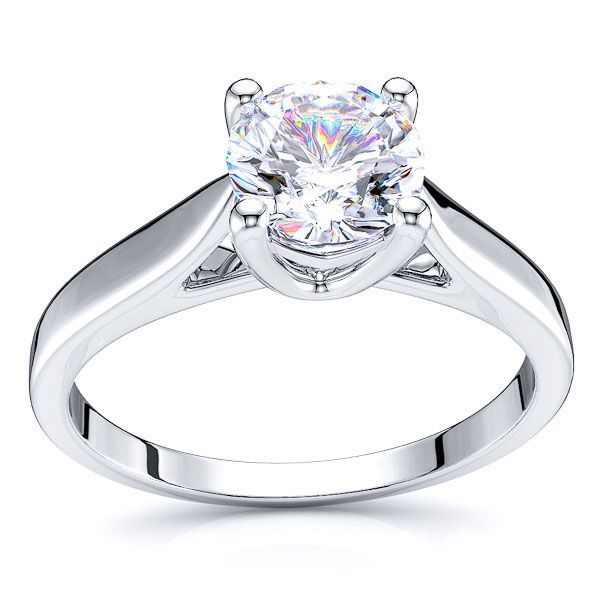 Solitaire Hollywood Engagement Ring