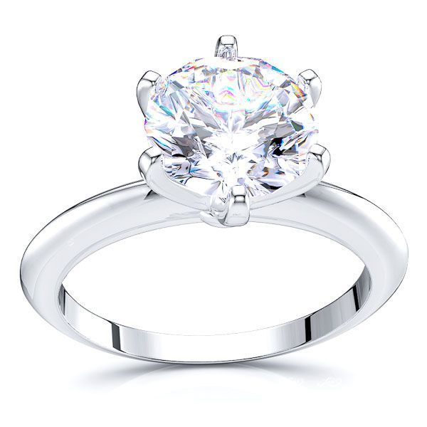 Solitaire Garland Engagement Ring