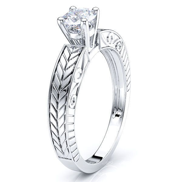 Las Vegas Solitaire Antique Engagement Ring