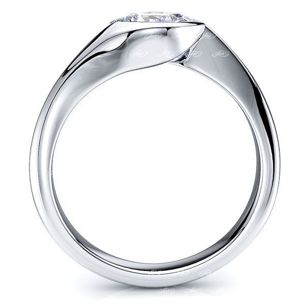 Charlotte Tension Solitaire Engagement Ring