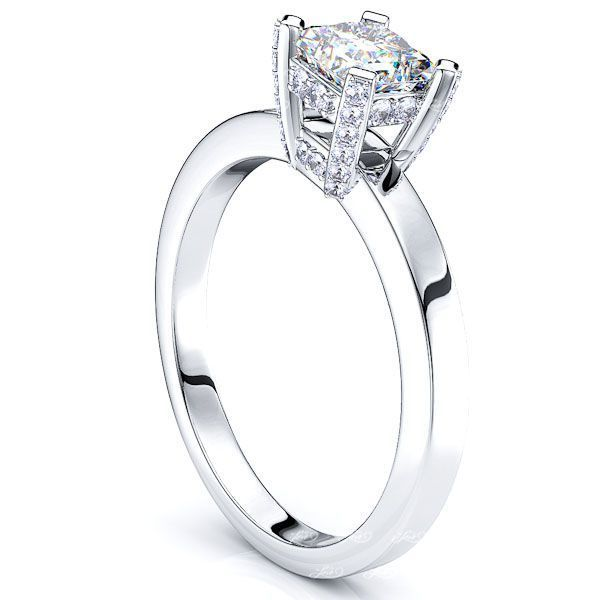 Flatiron Solitaire Engagement Ring