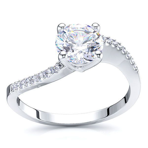 Charlottetown Pave Set Engagement Ring