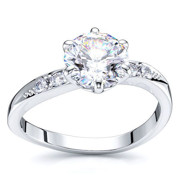 Hialeah Sidestone Engagement Ring