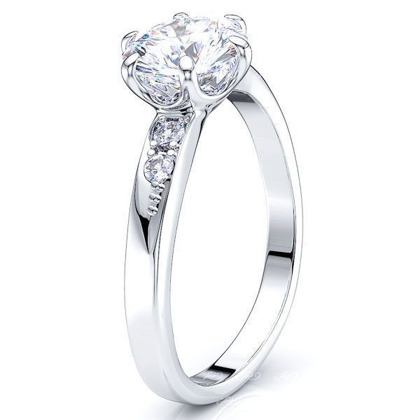 Hialeah Sidestone Enagagement Ring