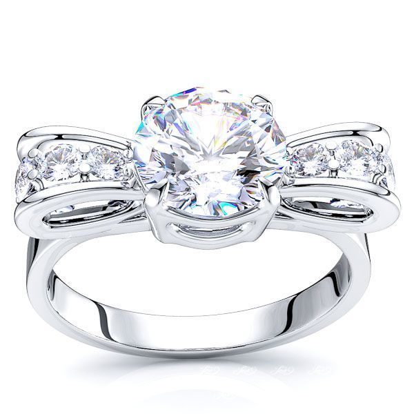 Astoria Fancy Bow Design Enagagement Ring
