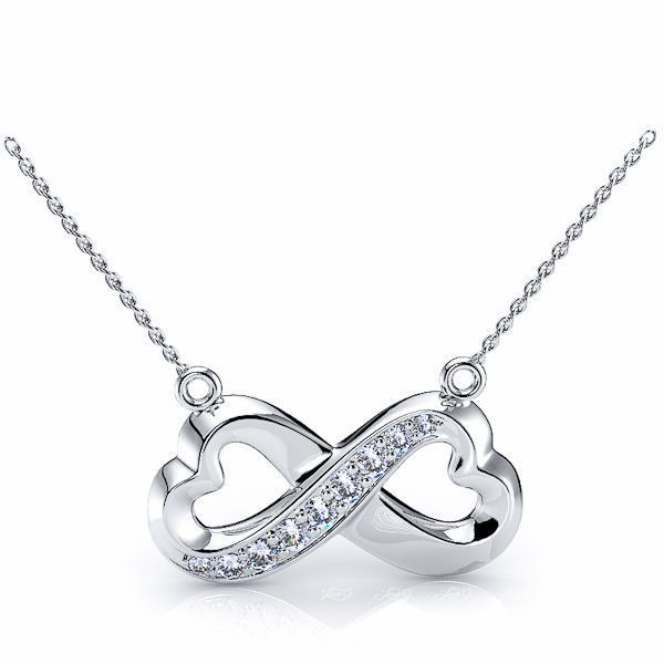 Arnaude Diamond Heart Pendant