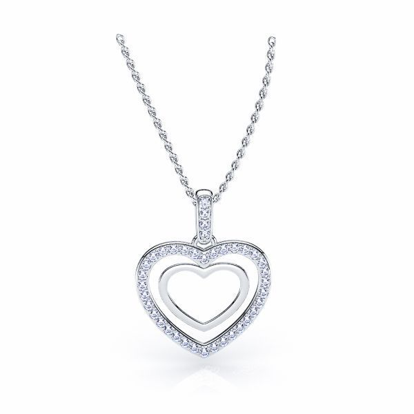 Benigna Diamond Heart Pendant