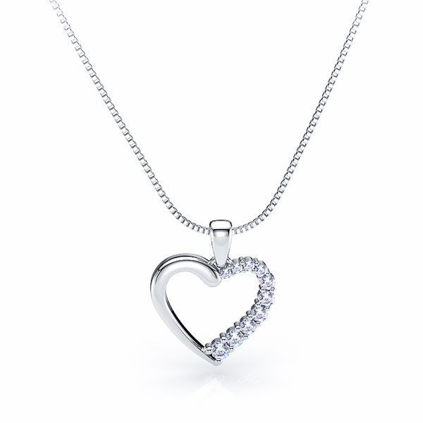 Lucinda Diamond Journey Heart Pendant
