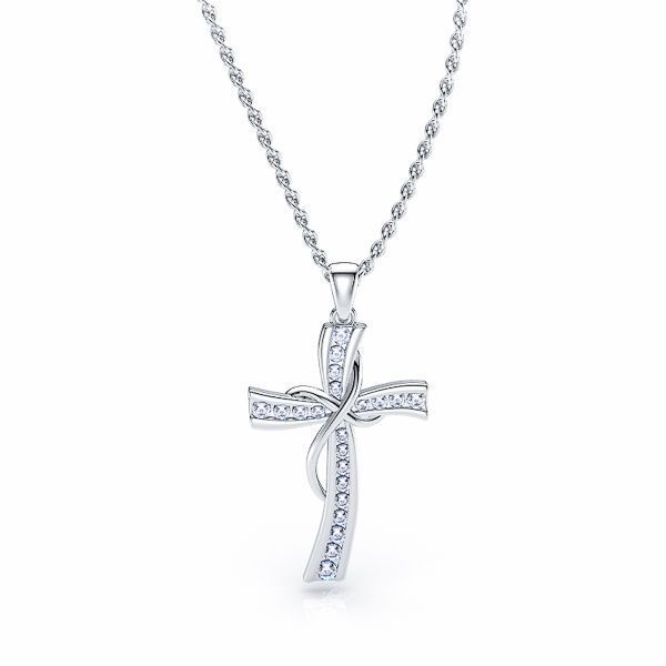 Stephanie Diamond Religious Cross Pendant