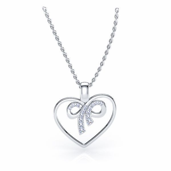 Jessamond Heart Diamond Pendant