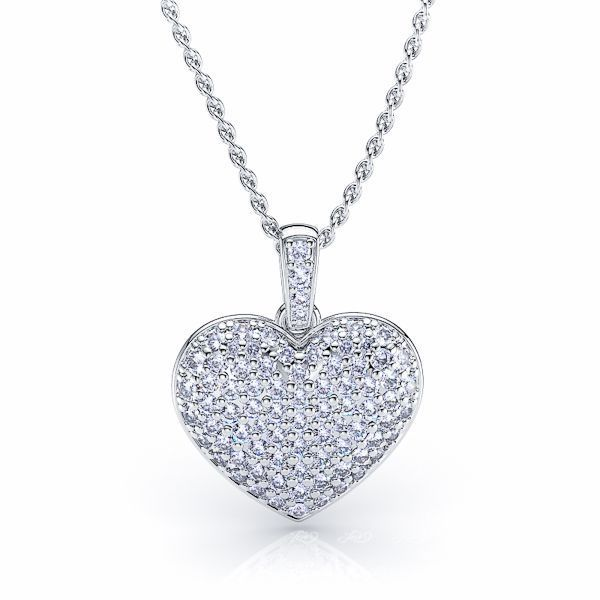 Giuliana Diamond Heart Pendant