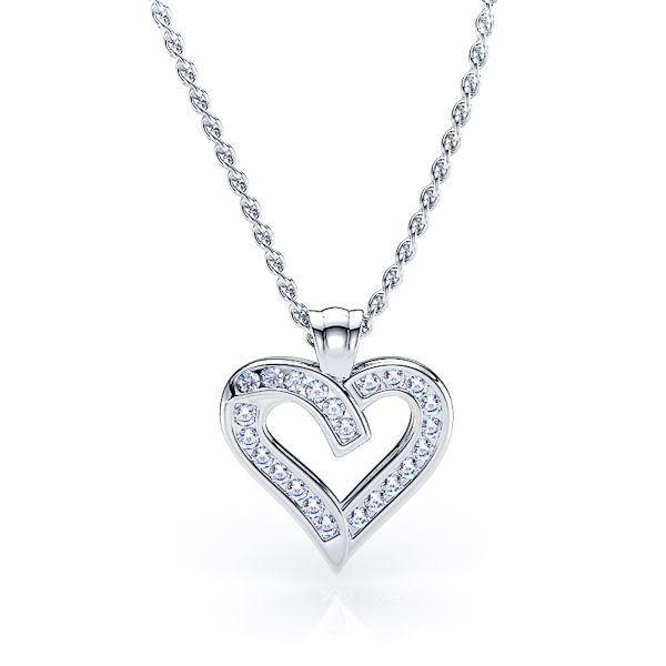 Emelina Diamond Heart Pendant