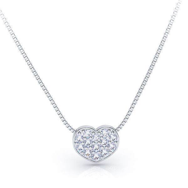 Pierrette Heart Shaped Diamond Pendant