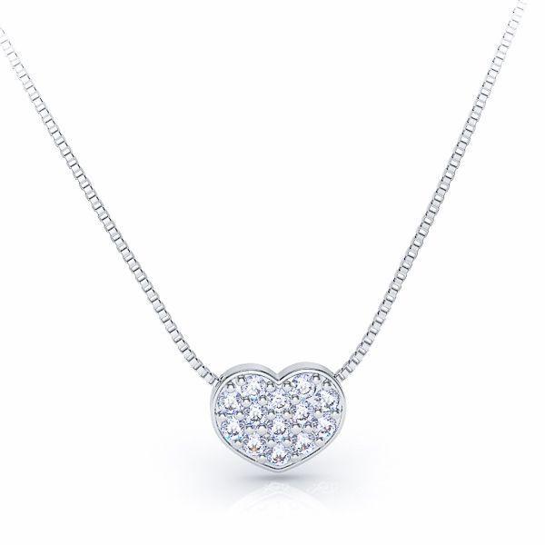 Pierrette Heart Shaped Diamond Pendant