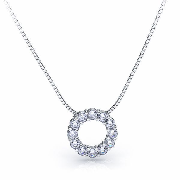 Paolina Diamond Circle Pendant