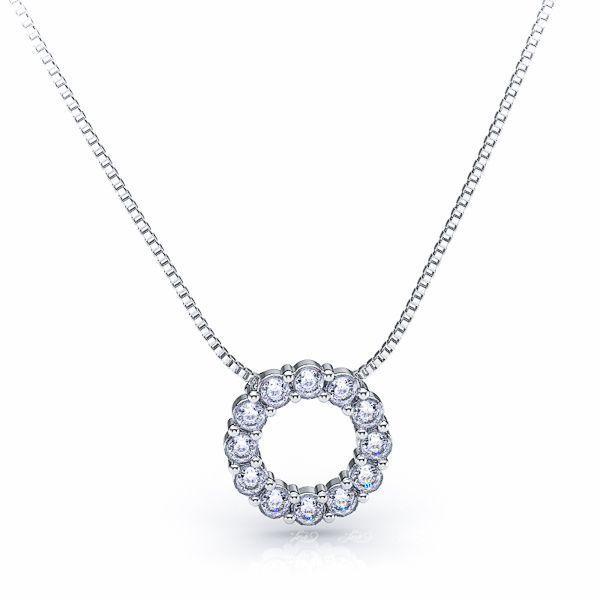Paolina Diamond Circle Pendant