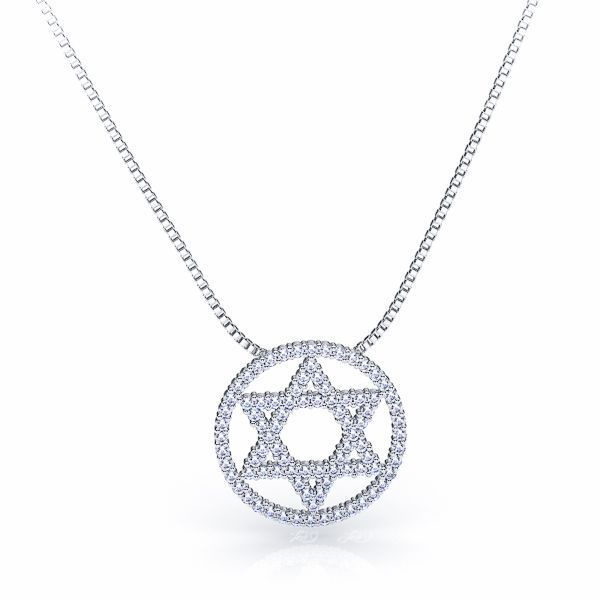 Jewish Star of David Diamond Pendant