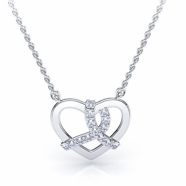 Elena Heart Diamond Pendant