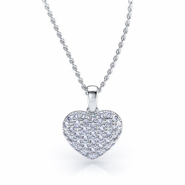 Reine Diamond Heart Pendant