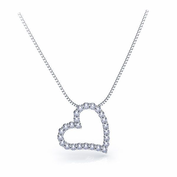 Raymonde Diamond Heart Pendant