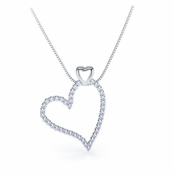 Ersilia Heart Diamond Pendant