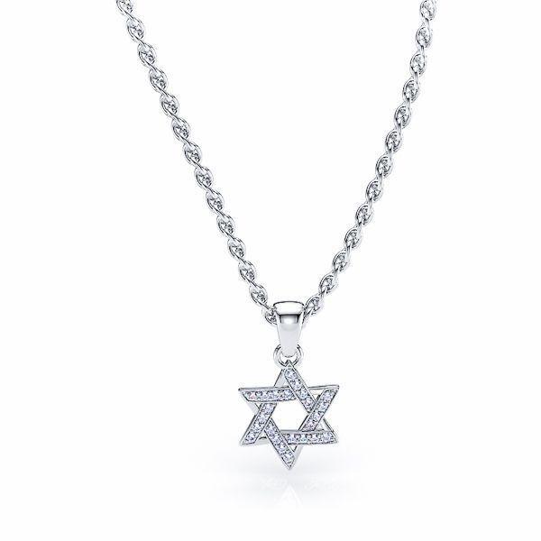 Perpetua Diamond Religious Star of David Pendant