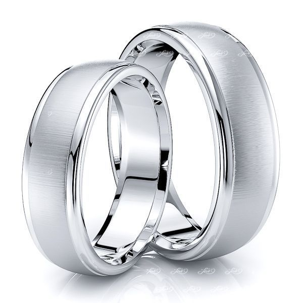 Sleek Classic 6mm Matching His and Hers Wedding Band Set