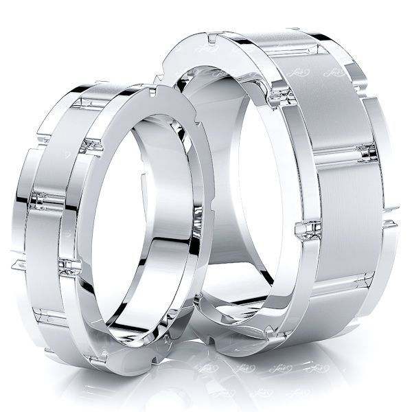 Bestseller 8mm His and 6mm Hers Wedding Ring Set
