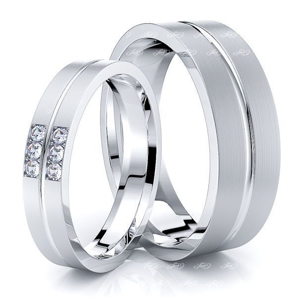 Bestseller 0.09 Carat 7mm His and 5mm Hers Diamond Wedding Ring Set