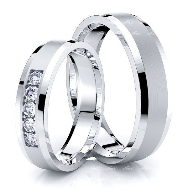 0.20 Carat Timeless Piece 5mm His and Hers Diamond Wedding Band Set