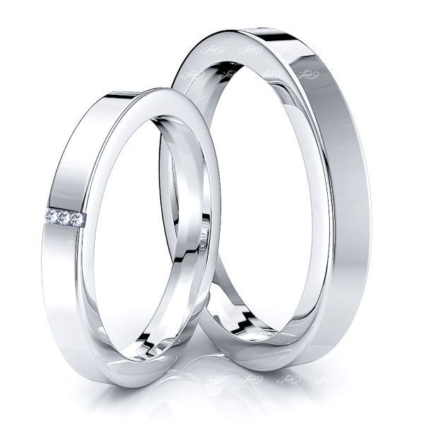 0.03 Carat Bestseller Classic 3mm His and Hers Diamond Wedding Ring Set