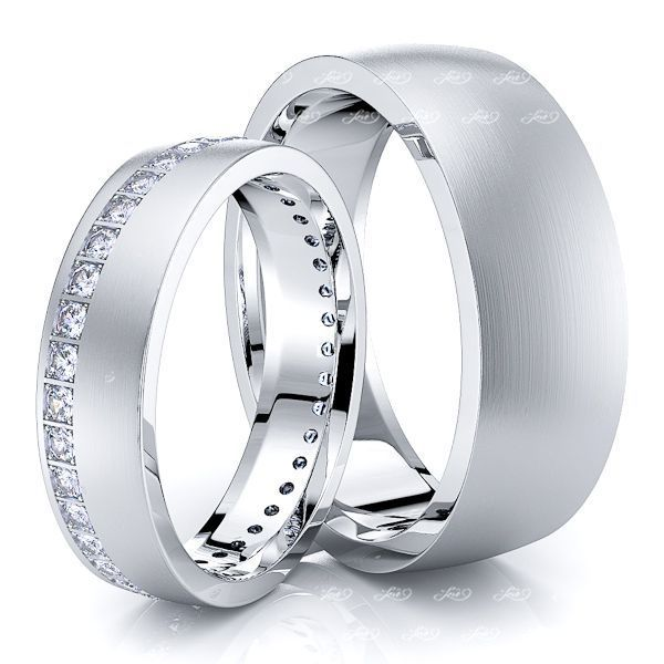 0.60 Carat Bestseller 7mm His and 5mm Hers Diamond Wedding Band Set