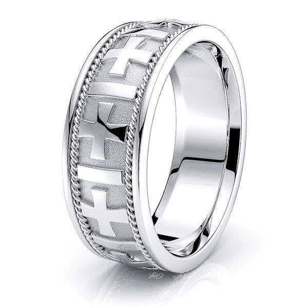Jackson Christian Mens Hand Braided Wedding Ring