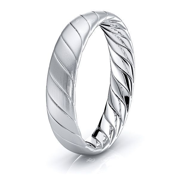 Noah Hand Woven Mens Wedding Ring