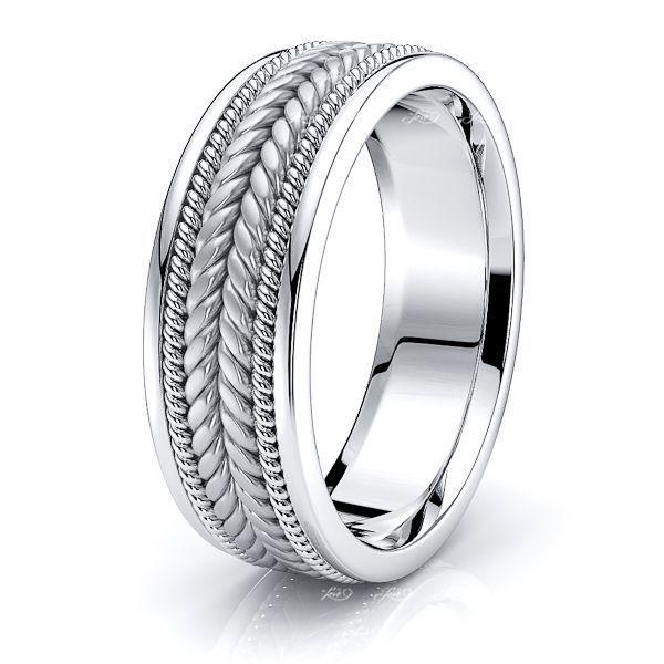 Elijah Hand Woven Mens Wedding Ring