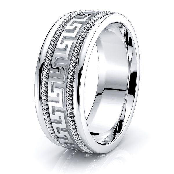 Dominic Hand Woven Mens Wedding Ring