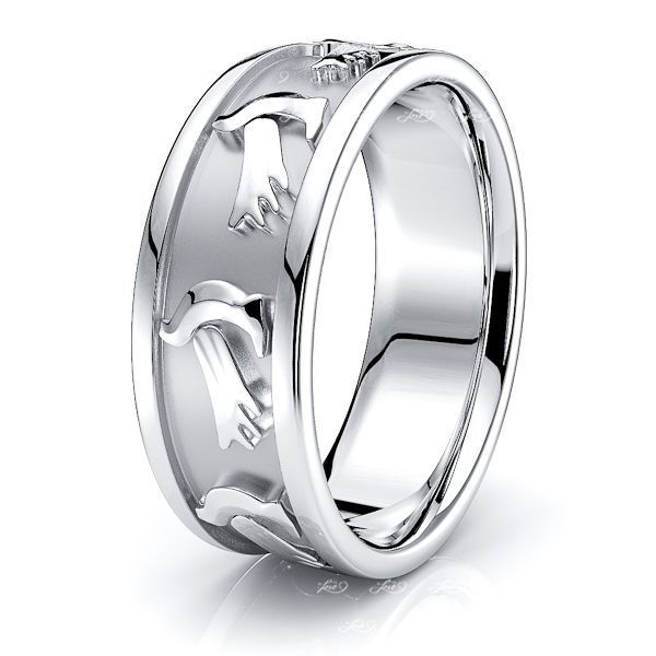 Anthony Dove Motif Religious Mens Wedding Ring