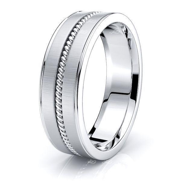 Levi Mens Hand Braided Wedding Ring