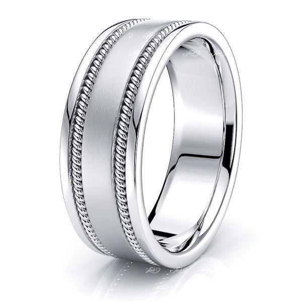 Nolan Mens Hand Braided Wedding Ring