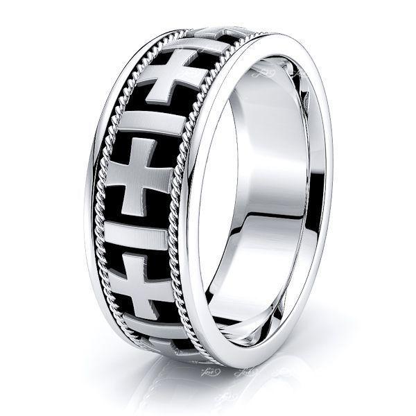 Christopher Christian Mens Hand Braided Wedding Ring