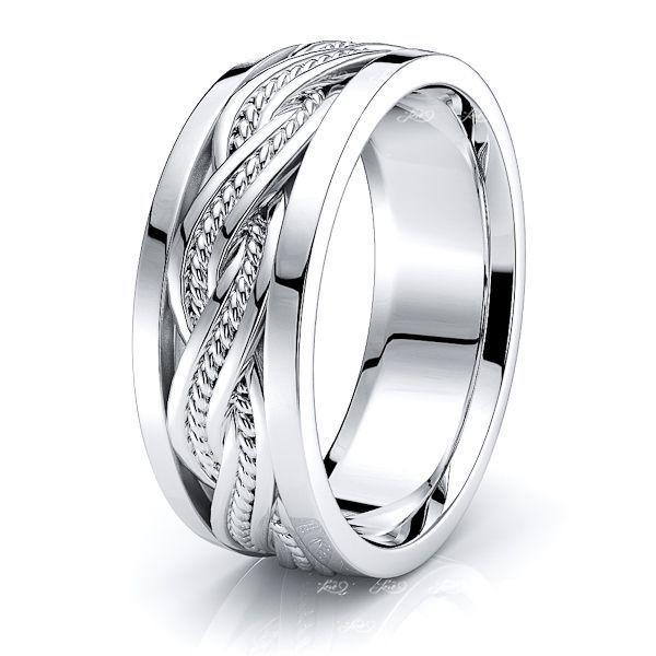 Miles Mens Hand Braided Wedding Ring