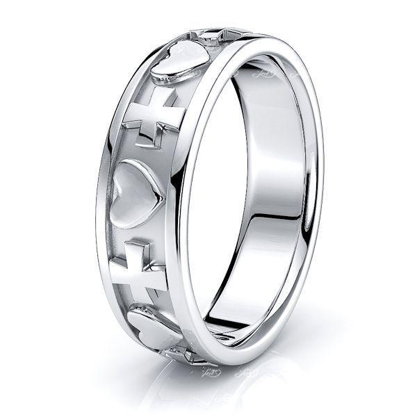 Leo Christian Handmade Mens Wedding Ring